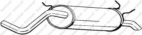 Глушитель выхлопных газов конечный BOSAL 279-151 - изображение