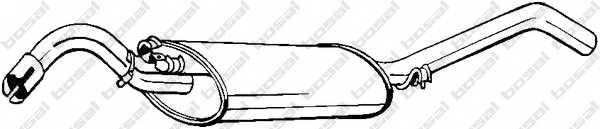 Глушитель выхлопных газов конечный BOSAL 279-411 - изображение
