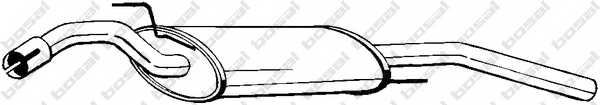 Глушитель выхлопных газов конечный BOSAL 279-483 - изображение