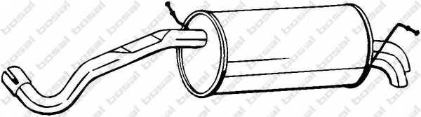 Глушитель выхлопных газов конечный BOSAL 280-523 - изображение
