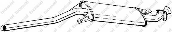 Средний глушитель выхлопных газов BOSAL 281-101 - изображение