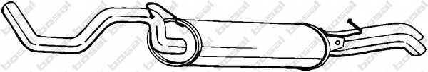 Глушитель выхлопных газов конечный BOSAL 281-227 - изображение