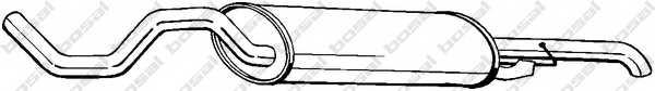 Глушитель выхлопных газов конечный BOSAL 281-533 - изображение