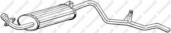 Глушитель выхлопных газов конечный BOSAL 281-837 - изображение
