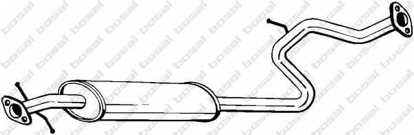 Средний глушитель выхлопных газов BOSAL 282-055 - изображение