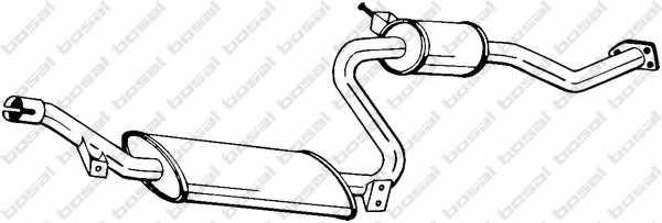 Средний глушитель выхлопных газов BOSAL 284-155 - изображение