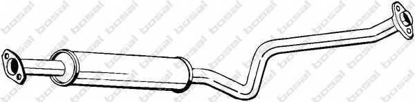 Средний глушитель выхлопных газов BOSAL 284-231 - изображение