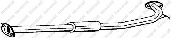 Средний глушитель выхлопных газов BOSAL 284-259 - изображение