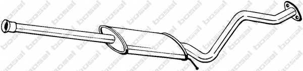 Средний глушитель выхлопных газов BOSAL 284-307 - изображение