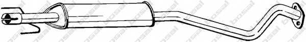 Средний глушитель выхлопных газов BOSAL 284-365 - изображение