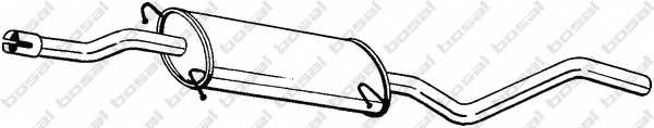 Средний глушитель выхлопных газов BOSAL 284-431 - изображение