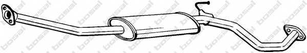 Средний глушитель выхлопных газов BOSAL 284-553 - изображение
