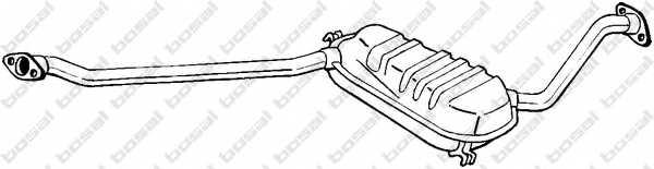 Средний глушитель выхлопных газов BOSAL 284-837 - изображение