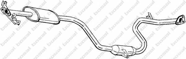 Средний глушитель выхлопных газов BOSAL 285-279 - изображение