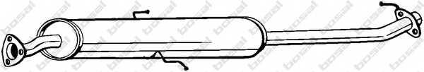 Средний глушитель выхлопных газов BOSAL 285-281 - изображение