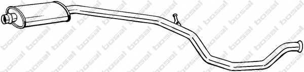 Средний глушитель выхлопных газов BOSAL 285-601 - изображение