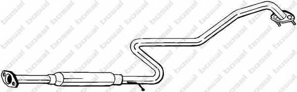 Средний глушитель выхлопных газов BOSAL 286-125 - изображение