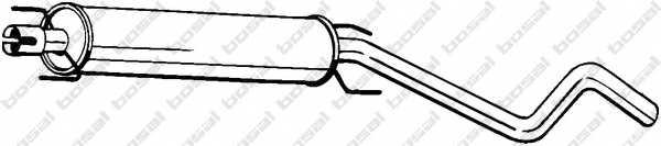 Средний глушитель выхлопных газов BOSAL 286-473 - изображение