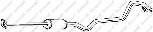 Средний глушитель выхлопных газов BOSAL 288-063 - изображение