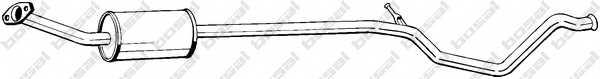 Средний глушитель выхлопных газов BOSAL 288-103 - изображение