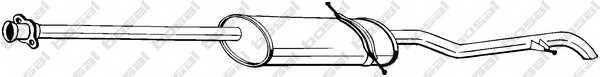 Глушитель выхлопных газов конечный BOSAL 289-023 - изображение