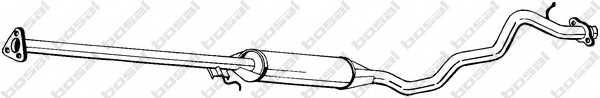 Средний глушитель выхлопных газов BOSAL 292-197 - изображение
