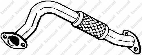 Труба выхлопного газа BOSAL 713-215 - изображение