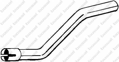 Труба выхлопного газа BOSAL 750-023 - изображение
