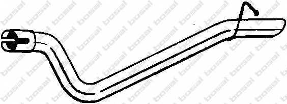 Труба выхлопного газа BOSAL 750-429 - изображение