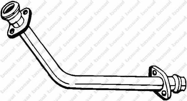 Труба выхлопного газа BOSAL 751-151 - изображение