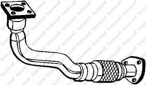 Труба выхлопного газа BOSAL 753-177 - изображение