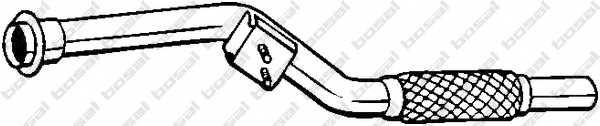 Труба выхлопного газа BOSAL 800-003 - изображение