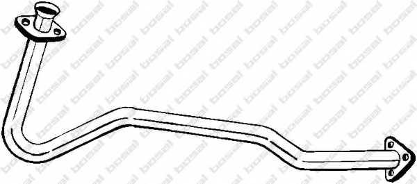 Труба выхлопного газа BOSAL 802-459 - изображение