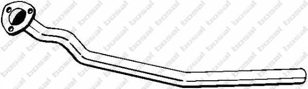 Труба выхлопного газа BOSAL 820-165 - изображение
