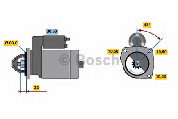 Стартер 2кВт для GAZ GAZELLE <b>BOSCH 0 001 109 046</b> - изображение