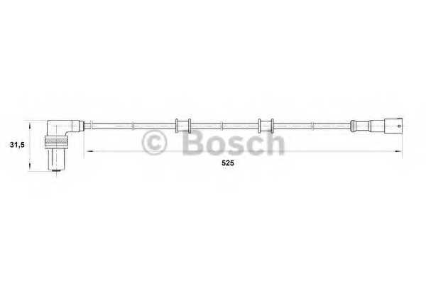 Датчик частоты вращения колеса BOSCH 0 265 001 206 - изображение