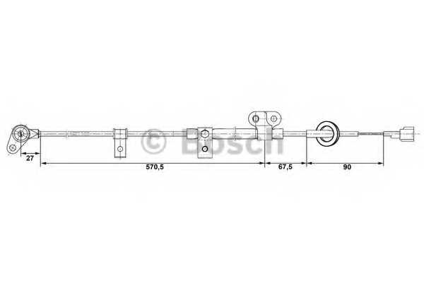 Датчик частоты вращения колеса BOSCH 0 265 006 254 - изображение