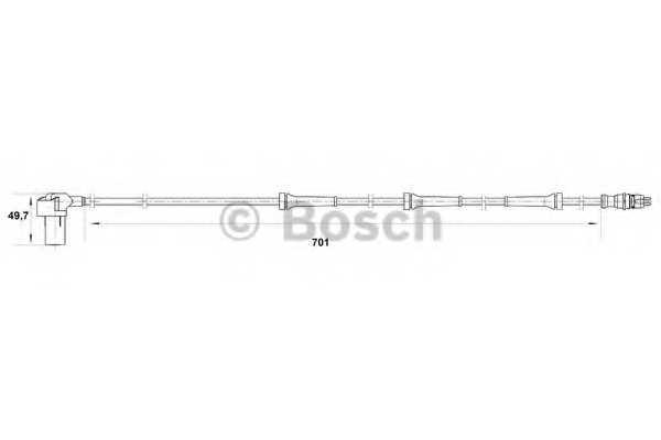 Датчик частоты вращения колеса BOSCH  / 0265006384 - изображение
