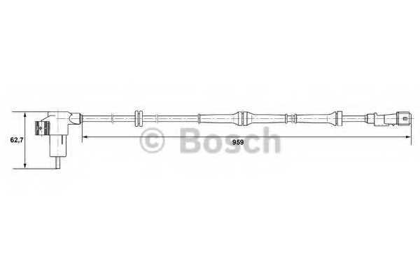 Датчик частоты вращения колеса BOSCH 0 265 006 659 - изображение