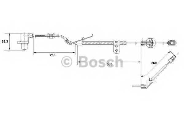 Датчик частоты вращения колеса BOSCH  / 0265006674 - изображение