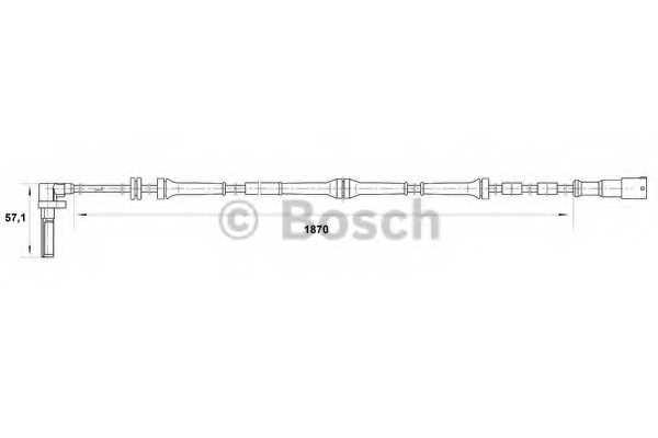 Датчик частоты вращения колеса BOSCH 0 265 007 046 - изображение