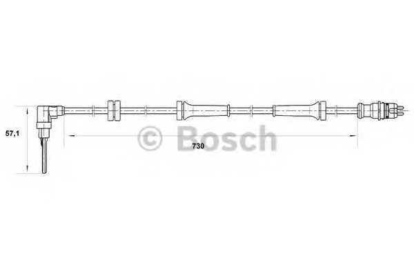 Датчик частоты вращения колеса BOSCH 0 265 007 070 - изображение