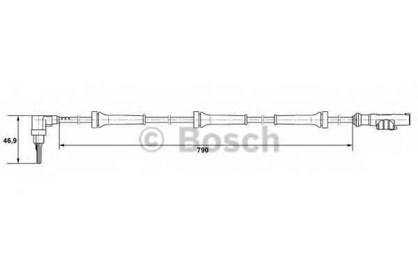Датчик частоты вращения колеса BOSCH 0 265 007 400 - изображение