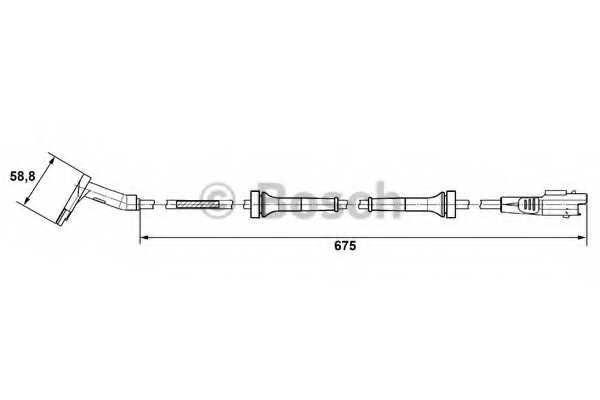Датчик частоты вращения колеса BOSCH 0 265 007 423 - изображение