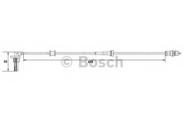 Датчик частоты вращения колеса BOSCH 0 265 007 533 - изображение