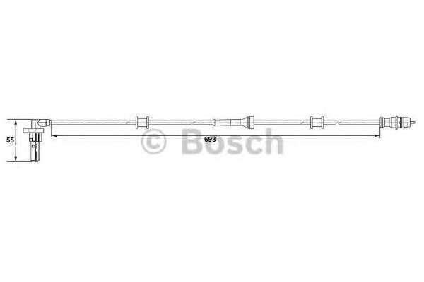 Датчик частоты вращения колеса BOSCH 0 265 007 534 - изображение
