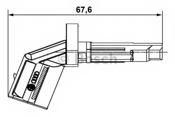 Датчик частоты вращения колеса BOSCH  / 0265007928 - изображение