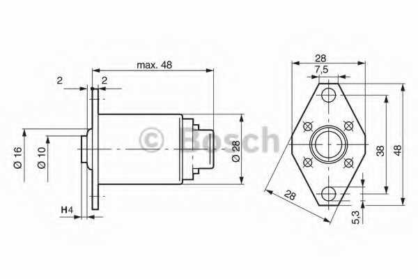 Подъёмный магнит BOSCH 0 330 001 003 - изображение 1