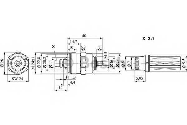 Подъёмный магнит BOSCH 0 330 001 040 - изображение 1