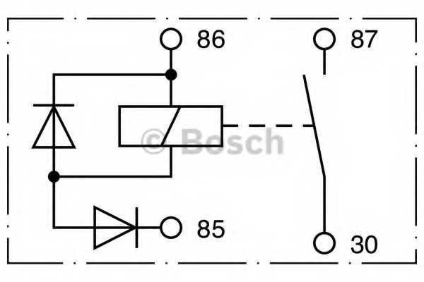 Реле рабочего тока BOSCH 0 332 002 256 - изображение 2